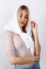 Урочисті шарфи FAMO Хустку Анабела білий 90*90 (PVC-1913) #L/A