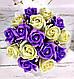 Букет з мильних квітів, 17 троянд. Букет із мила. Подарунок мамі, вчительці, подрузі, дружині, фото 3
