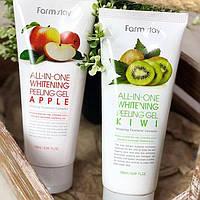 Пилинг-скатка для лица FarmStay All-In-One Whitening Peeling Gel Cream Apple and KIWI