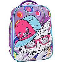 Рюкзак Bagland Turtle коты 38*28*16 (фиолетовый)