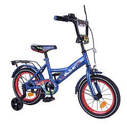 """Велосипед 2-х колісний EXPLORER 14"""" T-214112 (1шт) blue_red з дзвінком, дзеркалом, та ручним гальмом в кор."""