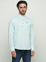 Мужская рубашка с длинным рукавом лен
