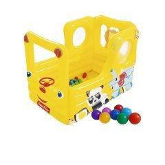 Надувний ігровий центр Bestway 93506 «Шкільний автобус», 137 х 96 х 96 см, з кульками 20 шт