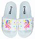 Тапочки дитячі пляжні UNICORN (білі) 31.32.33.35 розмір, фото 3