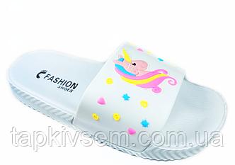Тапочки детские пляжные UNICORN (белые) 31.32.33.35 размер