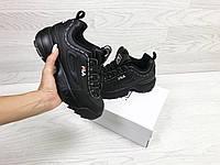 Кроссовки Fila, черные