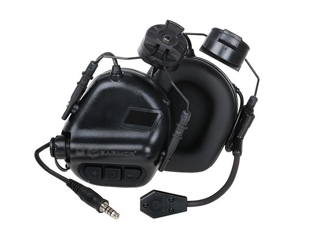 M32H Aktywne ochronniki słuch z mikrofonem na hełm FAST - BK [EARMOR] (для страйкбола)