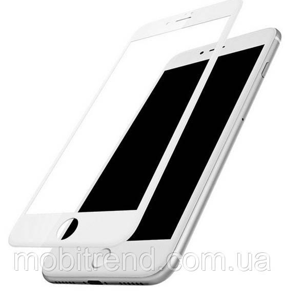 Защитное стекло 4D для Apple iPhone 6, 6S (0.3mm, 3D, 4D), Japan, белое, с олеофобным покрытием)