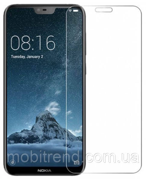 Защитное стекло 2.5D для Nokia 6.1 Plus, X6 (0.3mm, 2.5D, с олеофобным покрытием)