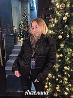 Женская блестящая куртка с напылением, на молнии и с капюшоном tez3701237, фото 1