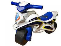 """Мотоцикл-каталка """"Полиция"""" (бело-синий)"""
