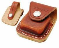 Чехол Zippo LPLB коричневый с ремешком