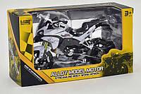 Модель мотоцикла металлопластиковая серая SKL11-184451