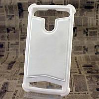 Универсальный Чехол накладка силикон-кожа 3.5-4.0'' Белый