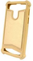 Универсальный Чехол накладка силикон-кожа 5.5-6.0'' Золотой