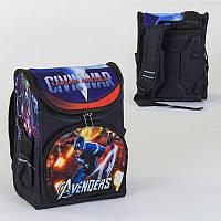 Рюкзак школьный каркасный с 1 отделением и 3 карманами, спинка ортопедическая, 3D принт SKL11-186086