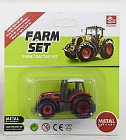 Трактор металлопластиковый зеленый SKL11-186629