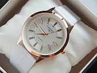 Мужские (Женские) кварцевые наручные часы Longines на кожаном ремешке