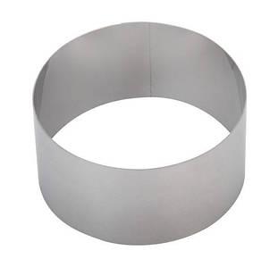 Кільце для формування тортів і десертів 20 см, висота 10 см, Щільність металу 1 мм