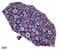 Зонт женский полуавтомат с цветочным принтом, фото 1