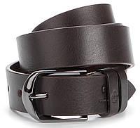 Стильный кожаный ремень итальянского качества GRANDE PELLE 00770 Коричневый, фото 1