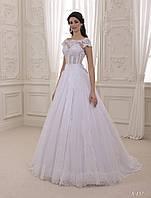 Сказочное свадебное платье с изящным верхом и нежной, ажурной спинкой