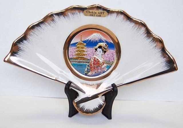 Сувенирный веер «Майко на фоне горы Фуджи»