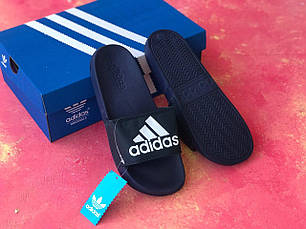 Сланцы/шлепки/шлепанцы/Adidas/ адидас/синие, фото 2