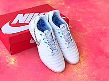 Сороконожки Nike Tiempo Ligera IV TF/многошиповки найк темпо/тиемпо/бампы лигера, фото 2