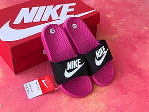 Сланцы/шлепки Nike женские(черно-розовые), фото 2