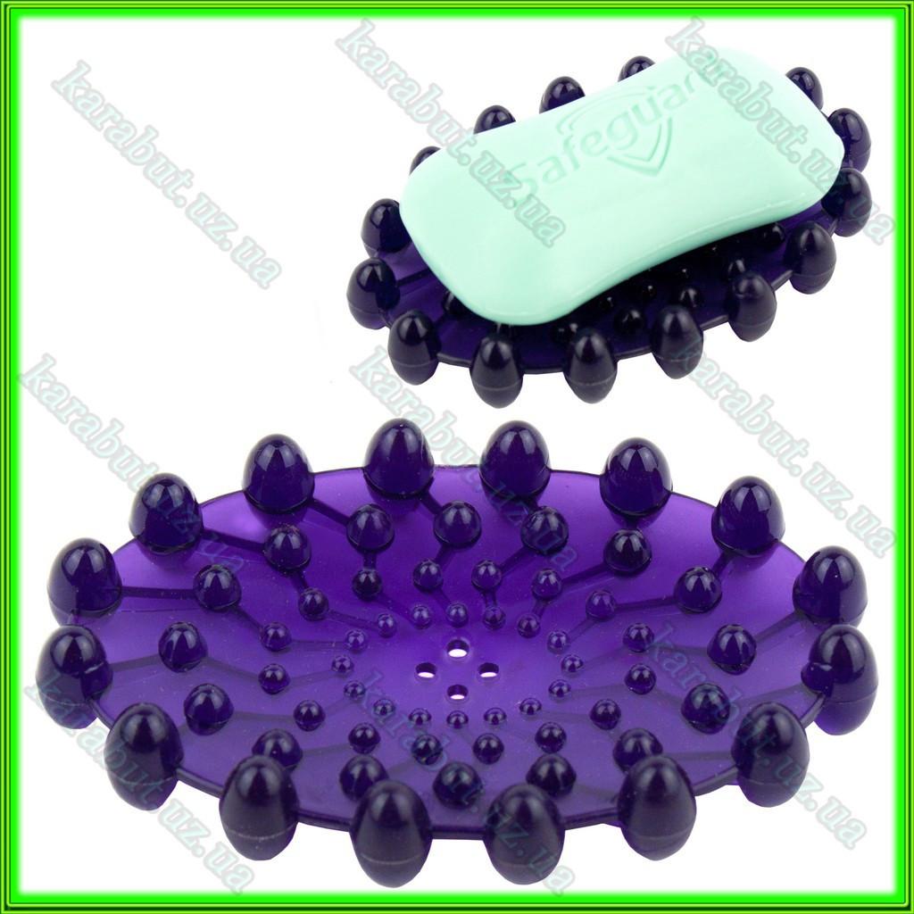 Мыльница силиконовая тёмно- фиолетовая L11 ширина 7см