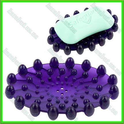 Мыльница силиконовая тёмно- фиолетовая L11 ширина 7см, фото 2