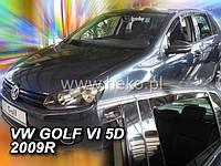 Дефлекторы окон вставные (ветровики 2шт задние) Heko Volkswagen GOLF VI 2008-2012
