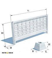 Забор бетонный П-6-Ви