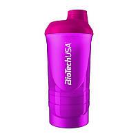 Шейкер Biotech Wave + Shaker 3in1 600 мл, розовый