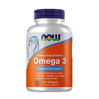 Жирные кислоты NOW Omega-3, 200 капсул