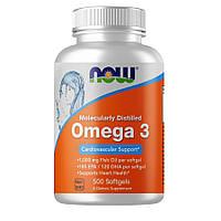Жирные кислоты NOW Omega-3, 500 капсул