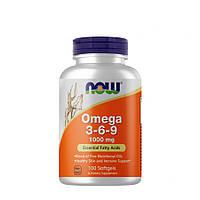 Жирные кислоты NOW Omega 3-6-9, 100 капсул
