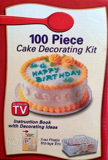 Набор 100 предметов для декора  кондитера