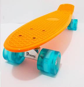 "Пенни борд Penny Classic 22"" светящиеся Оранжевый (2T2029)"