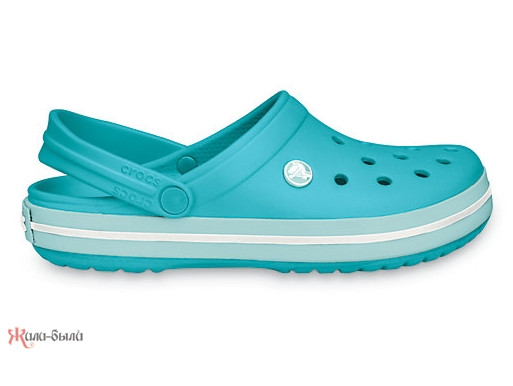Женские кроксы Crocs Crocband бирюзовые
