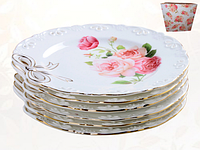 Набор тарелок 6 шт 19 см Бант SNT 30876