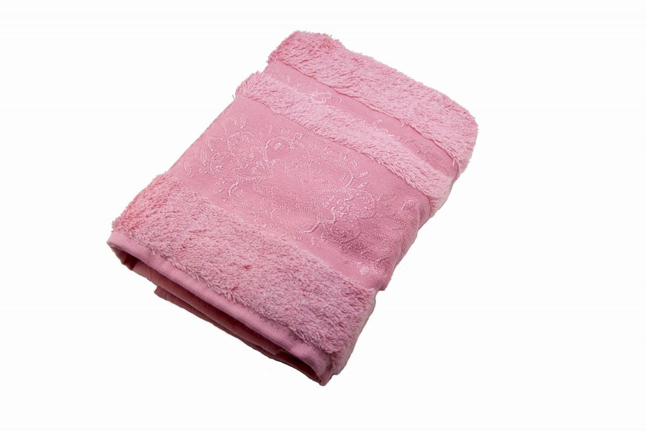Полотенце махровое Zeron Бамбук 50х90 розовый