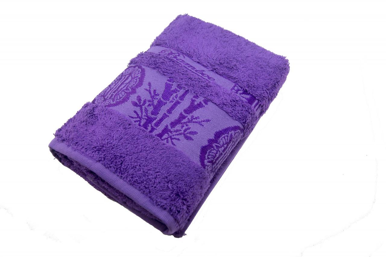 Полотенце махровое Zeron Бамбук 70х140 темно-фиолетовый