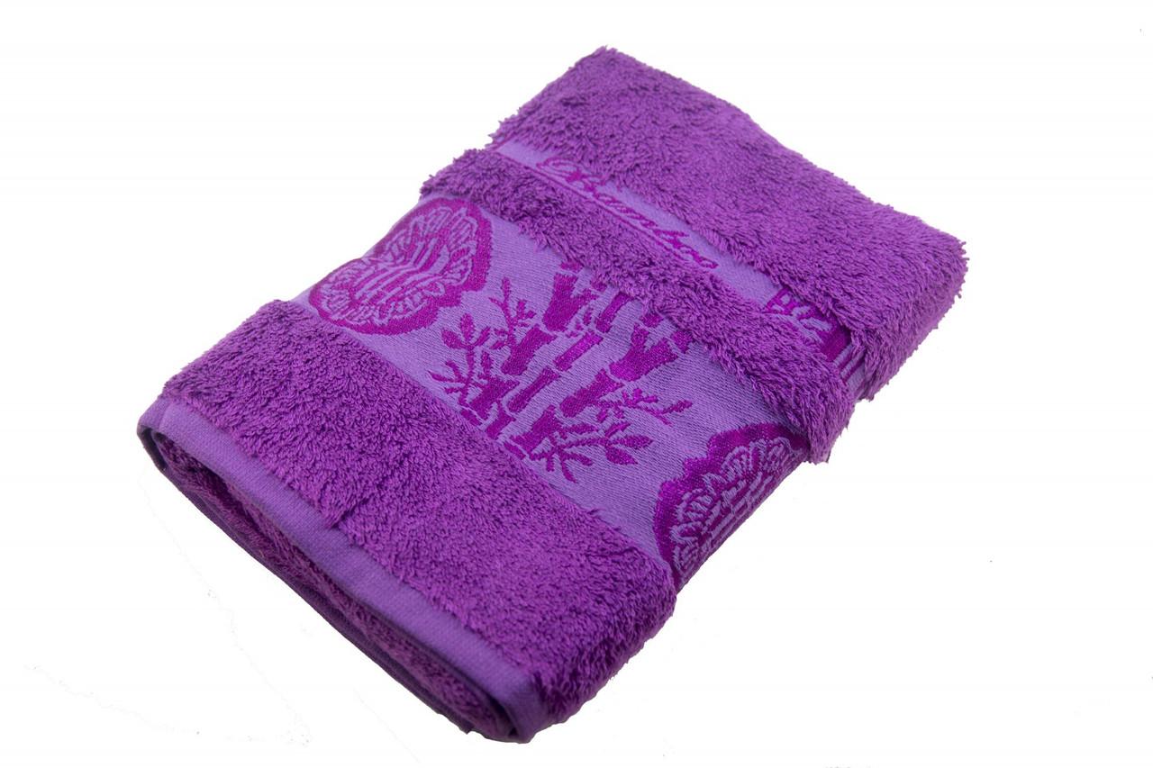 Полотенце махровое Zeron Бамбук 70х140 фиолетовый
