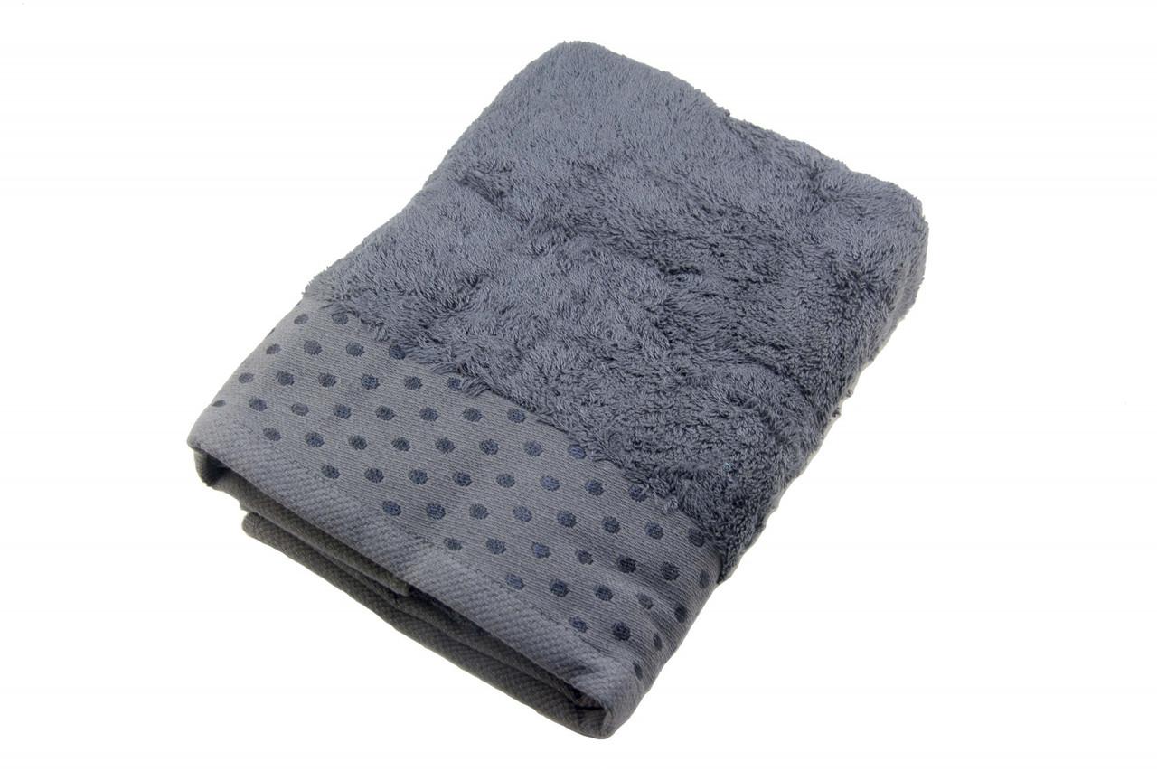 Полотенце махровое Zeron Бамбук 50х90 темно-серый