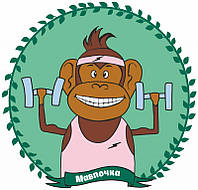Картиина за номерами для дітей Мавпочка, Rosa Kids 35х45 см