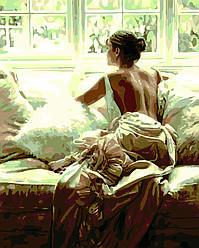 Картина по номерам Глядя в окно (Худ. Роб Хефферан), 40x50 см., Домашнее искусство