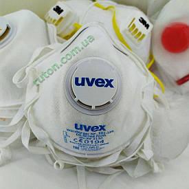 Противовирусный немецкий многоразовый респиратор-маска UVEX Silv-Air 2110 FFP1 NR