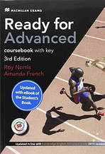 Ready for Advanced 3rd Edition Coursebook with key and eBook Pack / Учебник с ключами и кодом